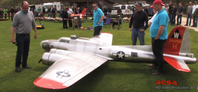 Gigantic Aluminum Overcast — 19ft. B-17 Flying Fortress Takes Flight
